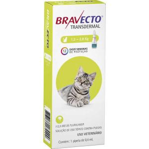 BRAVECTO TRANSDERMAL GATOS 1,2 - 2,8KG